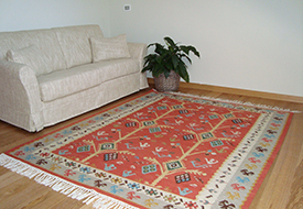 Kilim: Trees with Wheels